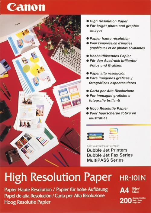 Original Canon HR-101N A4 High Resolution Paper 50Blatt