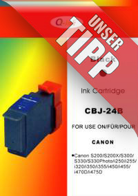 Q-INK CBJ-24B Tintenpatrone ersetzt Canon BCI-24Bk Black