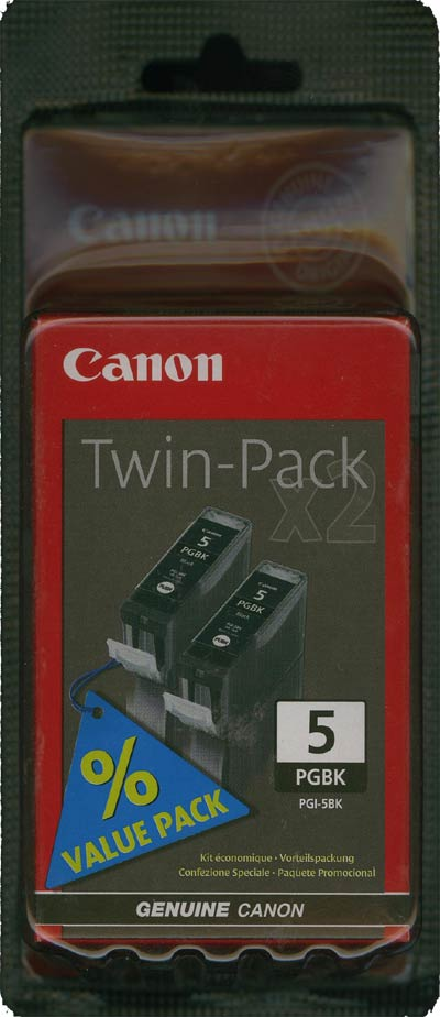 Original Canon PGI-5BK-TWIN Druckerpatrone Black im 2er Pack